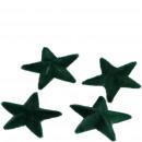 Plastic star Tasko, for sprinkling, flocked, 4 S